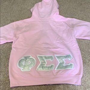 Phi Sigma Sigma Zip Up Sweatshirt